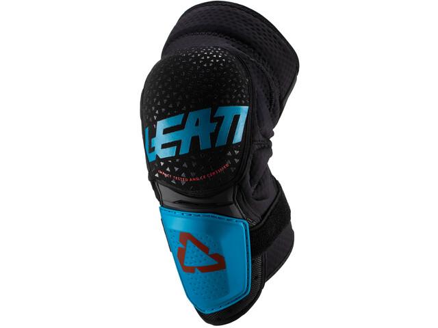 Leatt 3DF Hybrid Ochraniacze na kolano, czarny/niebieski